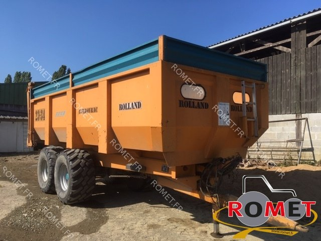 Cereal tipping trailer Rolland TURBOVRAC 23-34 - 1