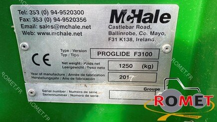 Mower conditioner Mc Hale PROGLIDE F3100 - 4